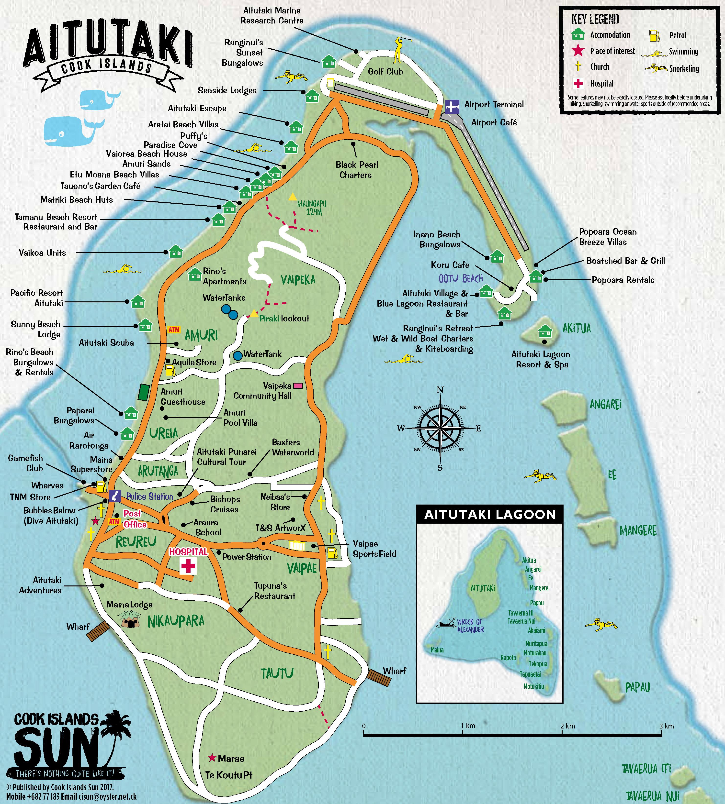 A map of Aitutaki. Source: Cook Islands Sun