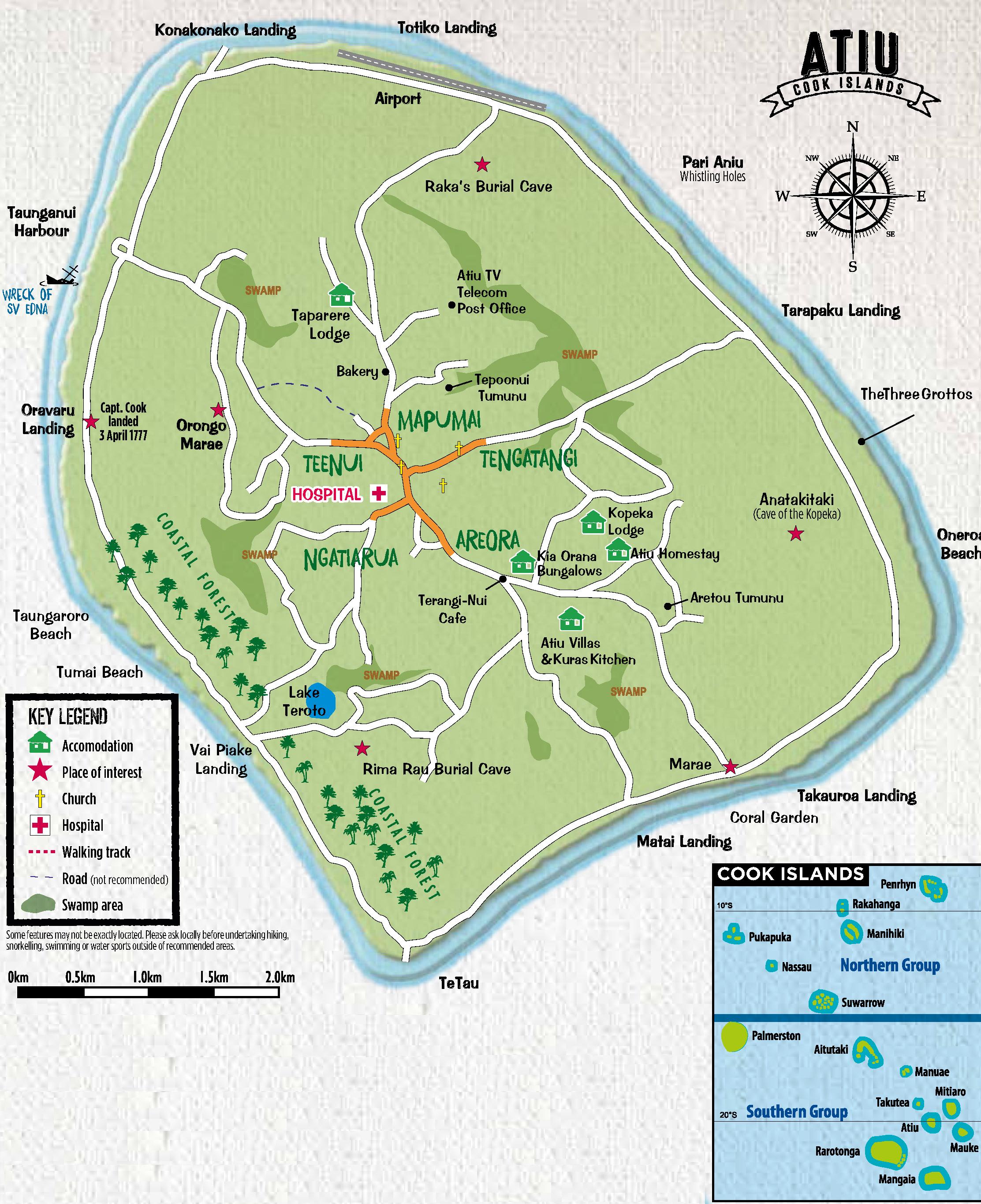 A map of Atiu. Source: Cook Islands Sun.