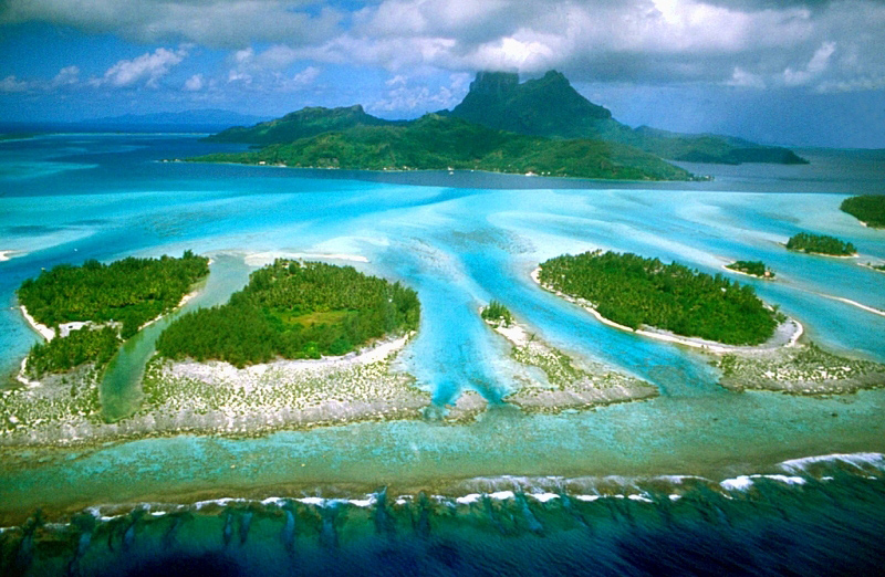 Bora Bora is an island group in French Polynesia