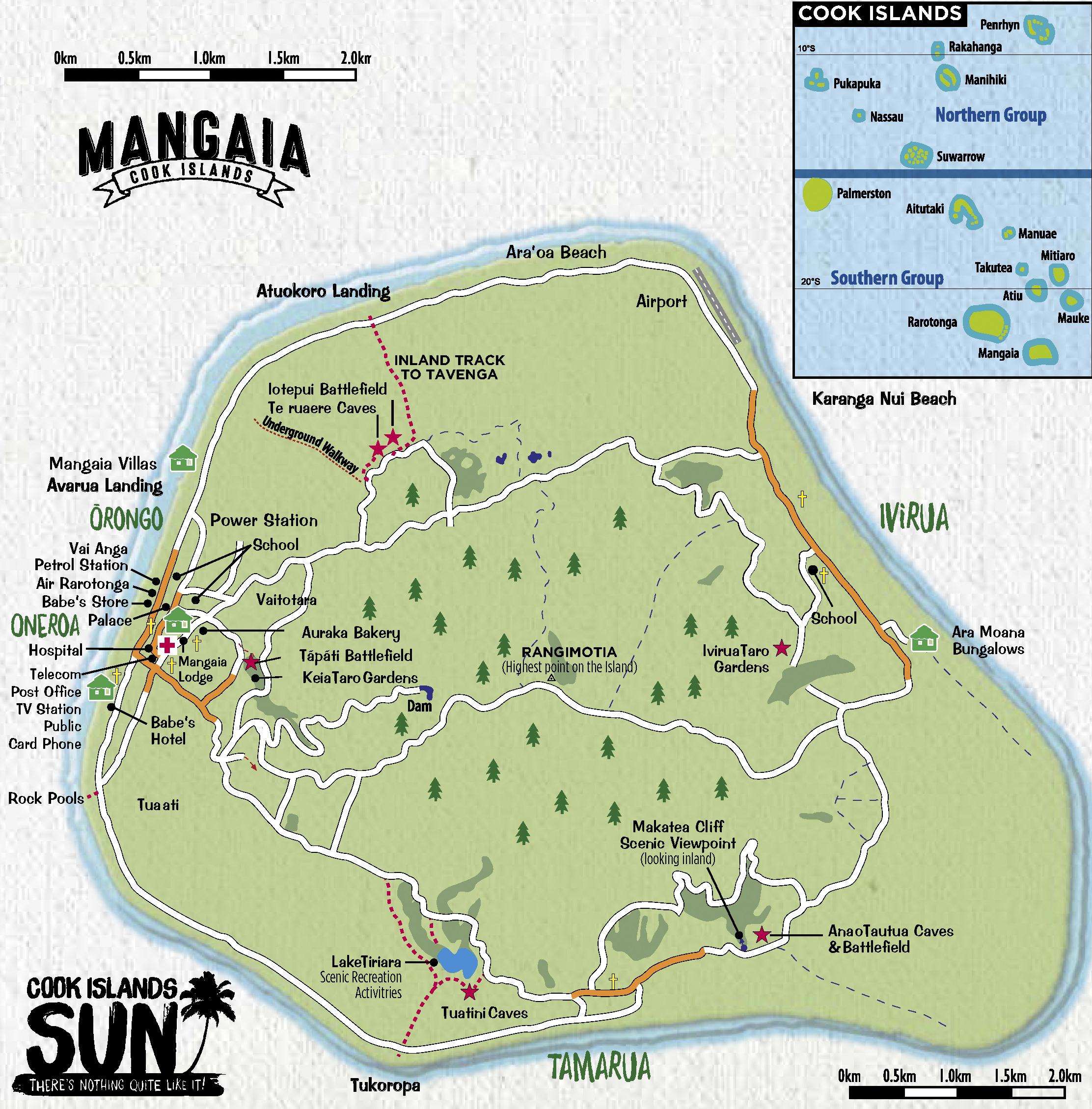 A map of Mangaia. Source: Cook Island Sun