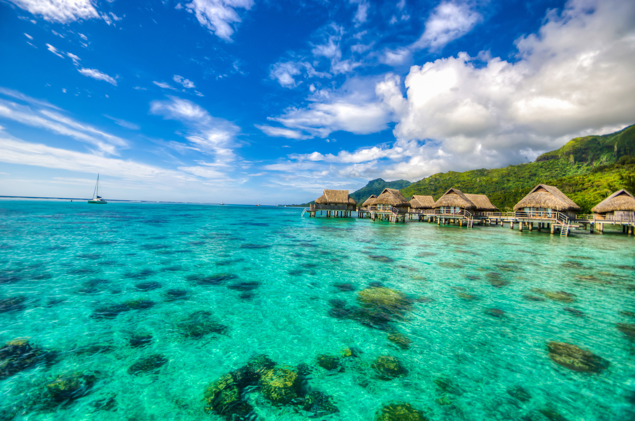 Tahiti and its islands are famous for over-water accommodation